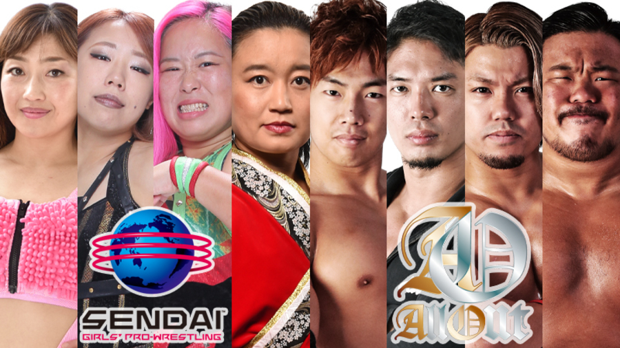 "DDT: ""All Out x Sendai Girls"" Takeshita y compañía recuperan cetro 2"