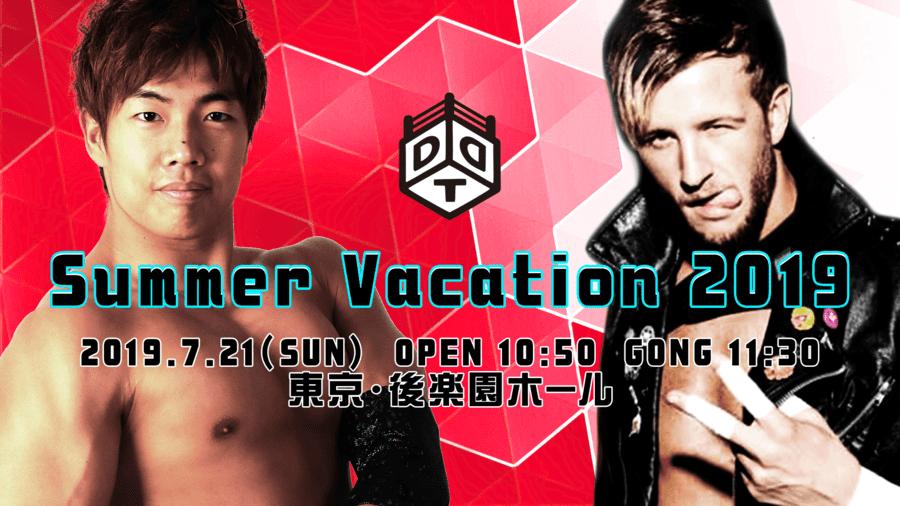 """DDT: """"Summer Vacation 2019"""" Konosuke Takeshita defiende su cetro 2"""