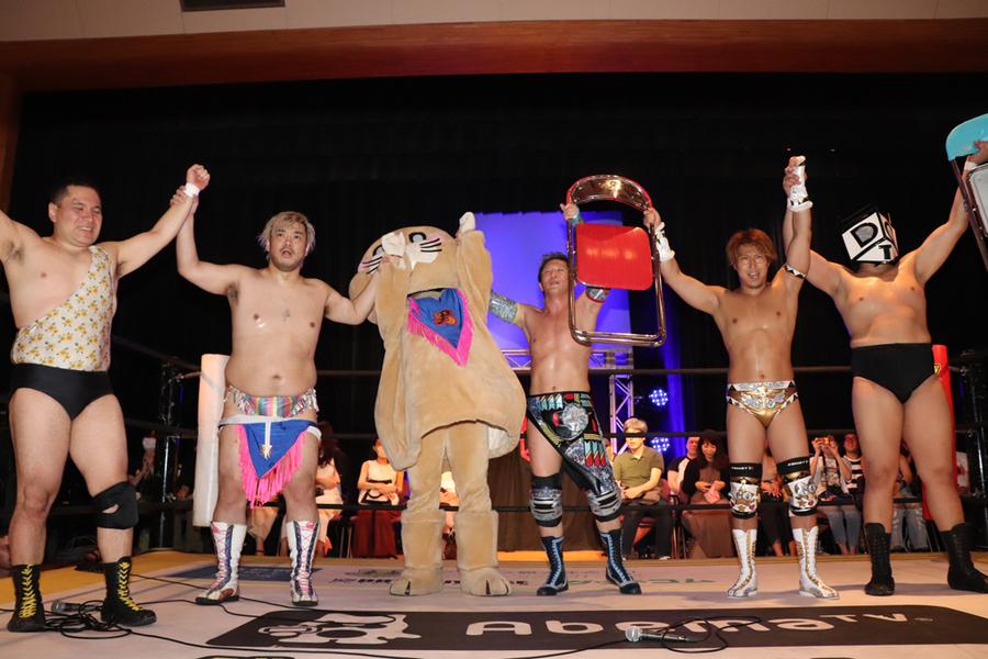 "DDT: ""Wrestling Tonkotsu 2019"" Yuki Ueno se corona 4"