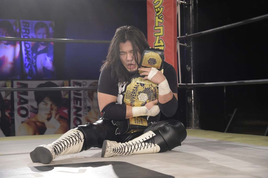 "DDT: ""DDT TV Show! #4"" Masato Tanaka se afianza a su cinturón 4"