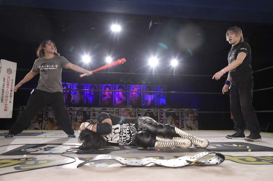 "DDT: ""DDT TV Show! #4"" Masato Tanaka se afianza a su cinturón 5"