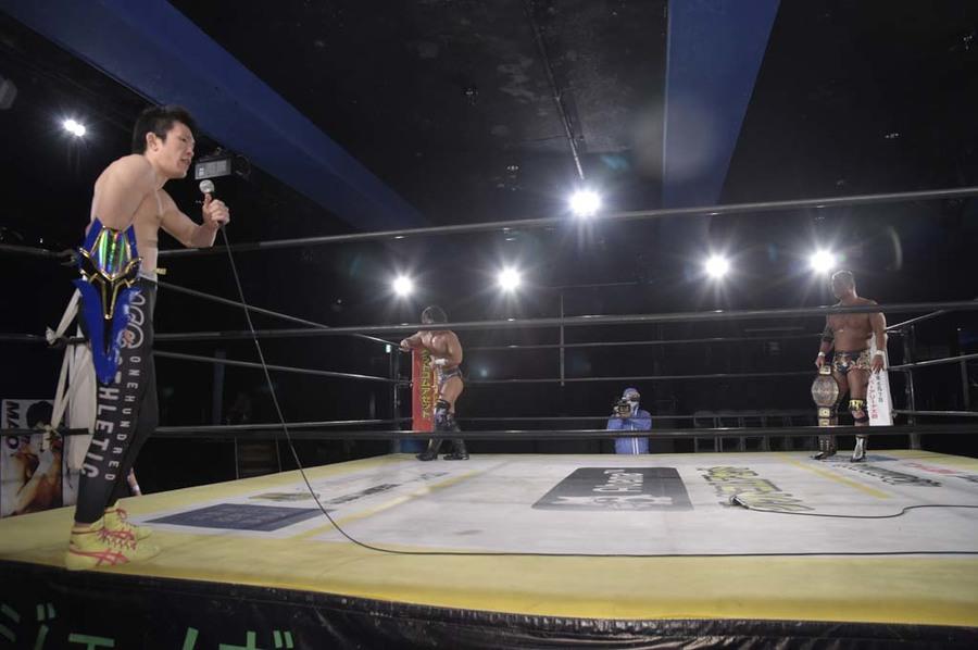 "DDT: ""DDT TV Show! #4"" Masato Tanaka se afianza a su cinturón 8"